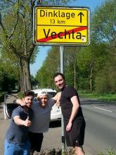 Kerem, Mike und Christian auf dem Weg nach Dinklage (Foto: Roland Durst)