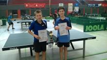Jan Bruhn und Leonard Krill Einzel und Doppelsieger U 15